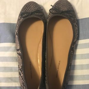 Banana Republic animal skin flats